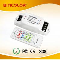 Buy cheap DC12V-24V 3 channels Constant Voltage RGB LED strip controller with RF remote from wholesalers