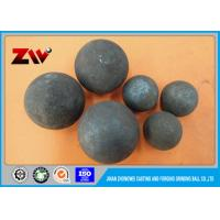 Buy cheap Cement Plant use HRC 60-68 Ball Mill Balls , forged grinding media balls from wholesalers