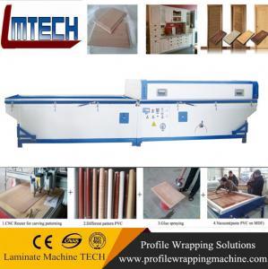 Quality pattern embossed kitchen cabinet door vacuum membrane press machine for sale