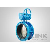 China Double Flanged Rubber Lined Butterfly Valve Concentric Ductile Iron GGG50 on sale