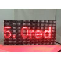 Buy Dot Matrix LED Display Signs 5.0 Single Red Module Refresh Frequency ≥ 120HZ at wholesale prices