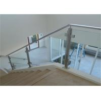 ... Buy Top Mount Stainless And Glass Balustrade , Staircase Steel Railing  Designs With Glass At Wholesale ...