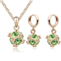 Quality Love Cube jewelry set 14 colors gold plated wedding jewelry sets TJ0123 for sale