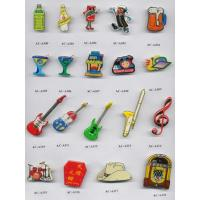 Quality New promotional advertising led flash magnet badges for sale