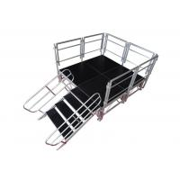 Quality Safety Aluminum Stage Platform / Stable Aluminum Stage Deck With Guardrail for sale