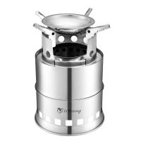 Quality Stainless Steel Wood Burning Camping Stove With 4 Flexible Non Slip Arm for sale