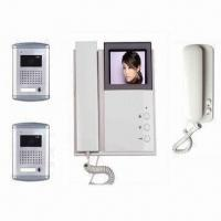 Quality 4 Wired Video Intercom System, Supports 2 Outdoor Units and 1 Slave Audio Door Phone for sale