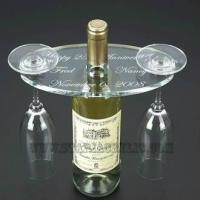 Quality multi-function Colorful Acrylic Plastic Wine Coaster Holder with color acrylic for sale