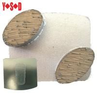 Quality Scanmaskin 2 Button Metal Bond Diamond Grinding Shoes for concrete surface prep for sale