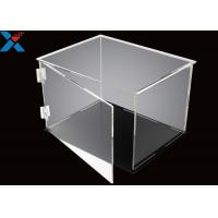Buy Rectangle Acrylic Display Box Open Door Assembled Clear Dust Storage Box at wholesale prices