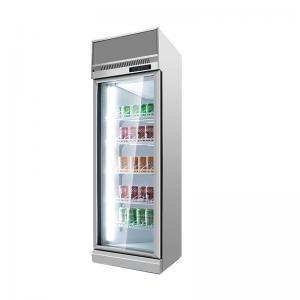 Quality Supermarket Convenience Store 2~8ºC Transparent Glass Door Upright Fridge for sale