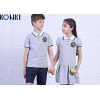 Quality Casual Customized Middle School Uniforms Polo Shirt And Dress for sale
