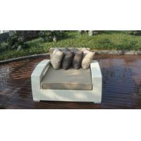 Outdoor Rattan Furniture Lounge Sofa , Luxury Conservatory Sofa Bed