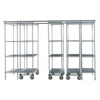 "Quality 86"" High Cold Room Hygienic High Density Wire Shelving With Vented Shelves for sale"