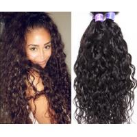100% Raw Curly Human Hair Extensions Double Machine Weft No Shedding Fade