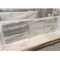 Quality Multi Color Green Marble Stone Countertops , Marble Kitchen Countertops CE Certification for sale