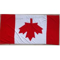China Flag of Canada 21s 100% cotton beach towel  70*140cm on sale