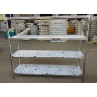 Quality Industrial Heavy Duty Stainless Steel Storage Shelves , 5 Feet Long Open Metal Shelving for sale