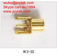 Quality High quality gold plated MCX jack streight PCB mount type coaxial connector MCX-KE for sale