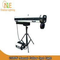 Buy cheap HMI 2500W Manual Follow Spot Light DJ Stage Lighting Led Effect Light changeable aperture from Wholesalers