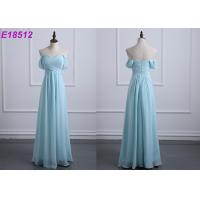 Quality Off The Shoulder Chiffon Wedding Bridesmaid Dresses Casual Custom Made Size for sale