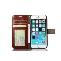Quality Colorful Iphone 6s Leather Wallet Case 4.7 Inch Handmade Magnet Side - Open for sale