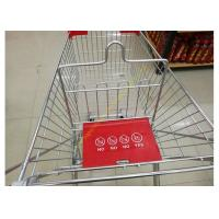 Buy Grocery Store Wire Shopping Trolley Metal Retail Carts 60L With Zinc Plated at wholesale prices