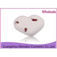 Quality Smooth Whitening Natural Bath Bombs Milk Dry Flower Heart Shaped Bath Bomb for sale