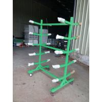 Quality OEM Double sided Movable Supermarket Display Rack with 4 Wheels Storage Handcart for sale