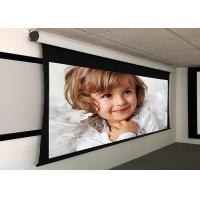Quality Custom Large Electric Motorized Projector Screen With Aluminum Casing , Remote Control for sale