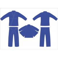 China Heavy Royal Blue Hemp Bjj Gi Youth Jiu Jitsu Gi Pant Twill Tape With 4Row Threads on sale
