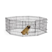 China Collapsible 24inch Metal Puppy Playpen For Pet Shows on sale