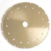 Quality Circular Shape Synthetic Diamond Cutting Blade V Slot For Limestone / Soft Stone for sale
