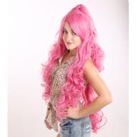 Quality Hot-Sale High Quality 100% Heat-Resistance Fiber Long Crazy Color Curly Princess Party Cosplay Wig for sale