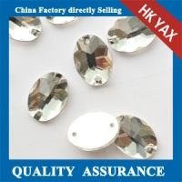 Quality China Crystal sew on glass stone, Teardrop Shaped sew-on stones,non hotfix crystals rhinestone for sale