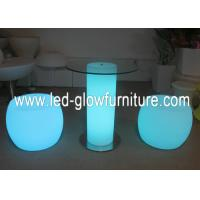 Quality IR / RF Remote Controller RGB square LED illuminated column table Waterproof for sale