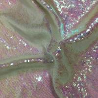 Quality Comfortable Glitter Sequin Fabric Textured Upholstery PVC Vegan Thin Quilted for sale