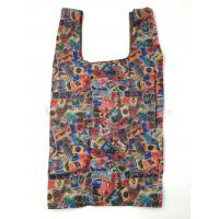 Quality Colorful Folding Pocket Shopping Bag / Reusable Collapsible Shopping Bags for sale