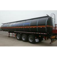 Quality Heating Asphalt Tank Semi Trailer 35 - 60cbm 3 Axle Insulated Tanker Trailers for sale