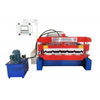 China PLC Control Roofing Sheet Roll Forming Machine Raw Material PPGI / PPGL / Aluminium on sale