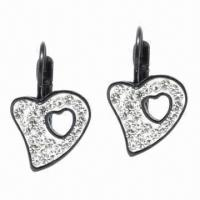 Quality Earrings, Made of Titanium and Zircon Materials for sale