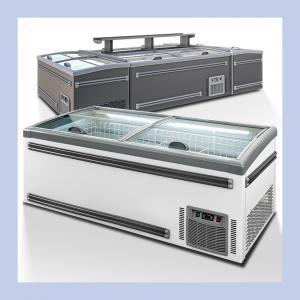 Quality Commercial Supermarket Sliding Door Combination Island Freezer For Frozen Foods for sale