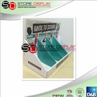 Quality Corrugated Cardboard Counter Displays Recyclable For Promotion / Retail for sale