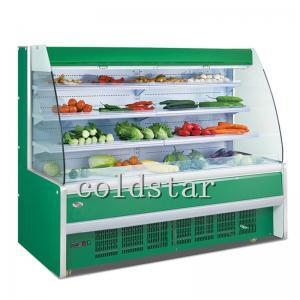 Quality Supermarket Multi - Deck Drink Milk Yogurt Open Chiller for sale