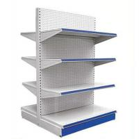 Quality Punching Hole Back Panel Gondola Storage Display Rack For Supermarket And Store for sale