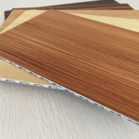 Quality 4mm Thick Wood Grain Aluminum Core Panel For Indoor Outdoor Decoration for sale