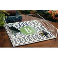 China High Clear Restaurant Acrylic Holder Stand , Rectangle Acrylic Tray With Handle on sale