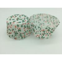 Buy Single Wall Greaseproof Cupcake Liners Cup Cake Wrappers Dim Sum Cherry and Leaf Printing at wholesale prices