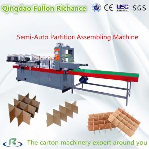 China Semi Auto & Automatic Paper Board Cardboard Partition Assembling Machine on sale