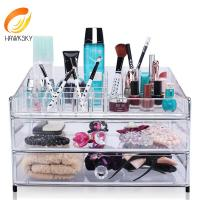 Quality Makeup storage containers Clear makeup organizer with 3 drawers for sale